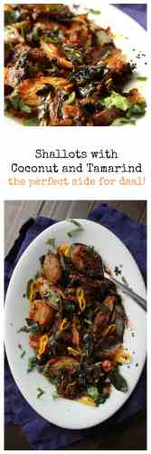 Shallots with Coconut and Tamarind