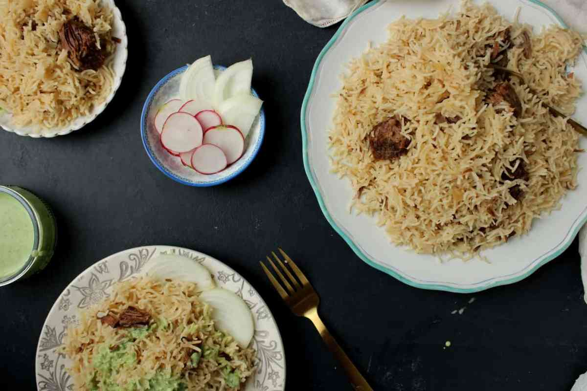 Yakhni Pulao Made Quicker with an Instant Pot