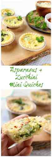 Asparagus and Zucchini Mini Quiches