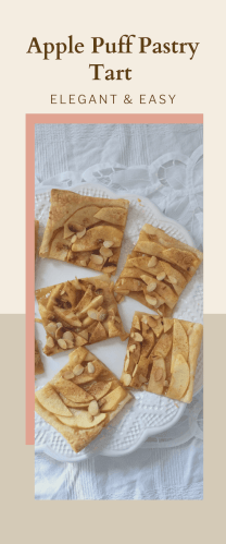 Cut pieces of an Apple Puff Pastry Tart