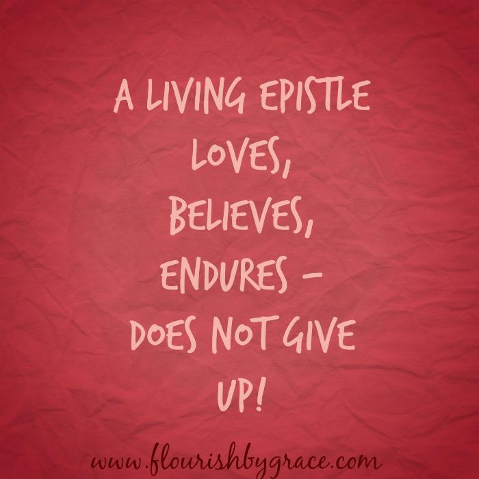 A living epistle www.flourishbygrace.com
