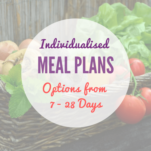 Personalised & Individualised Meal Planning Packages