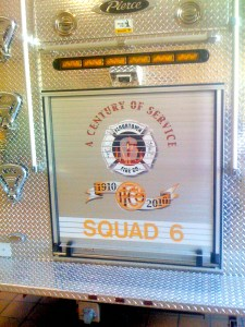 Logo on Squad 6 - Flourtown Fire Company