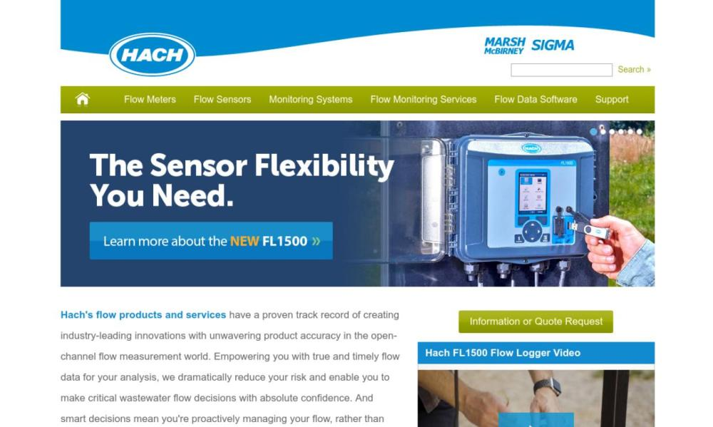 medium resolution of since 1971 marsh mcbirney hasreceived international acclaim for its innovation in flow meter technology we have worldwide installation of flowmeters