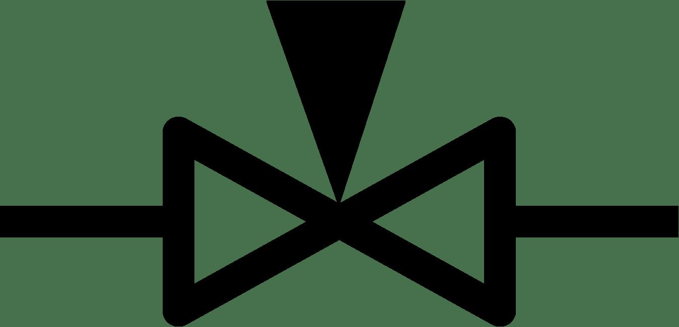 hight resolution of needle valve symbol
