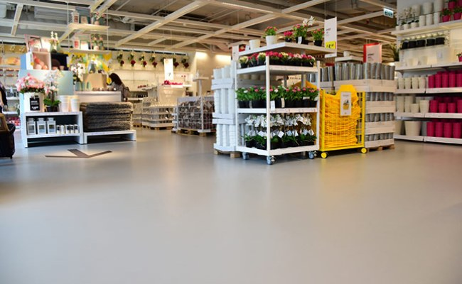 Ikea S New Hong Store Furnished With Flowcrete Flooring