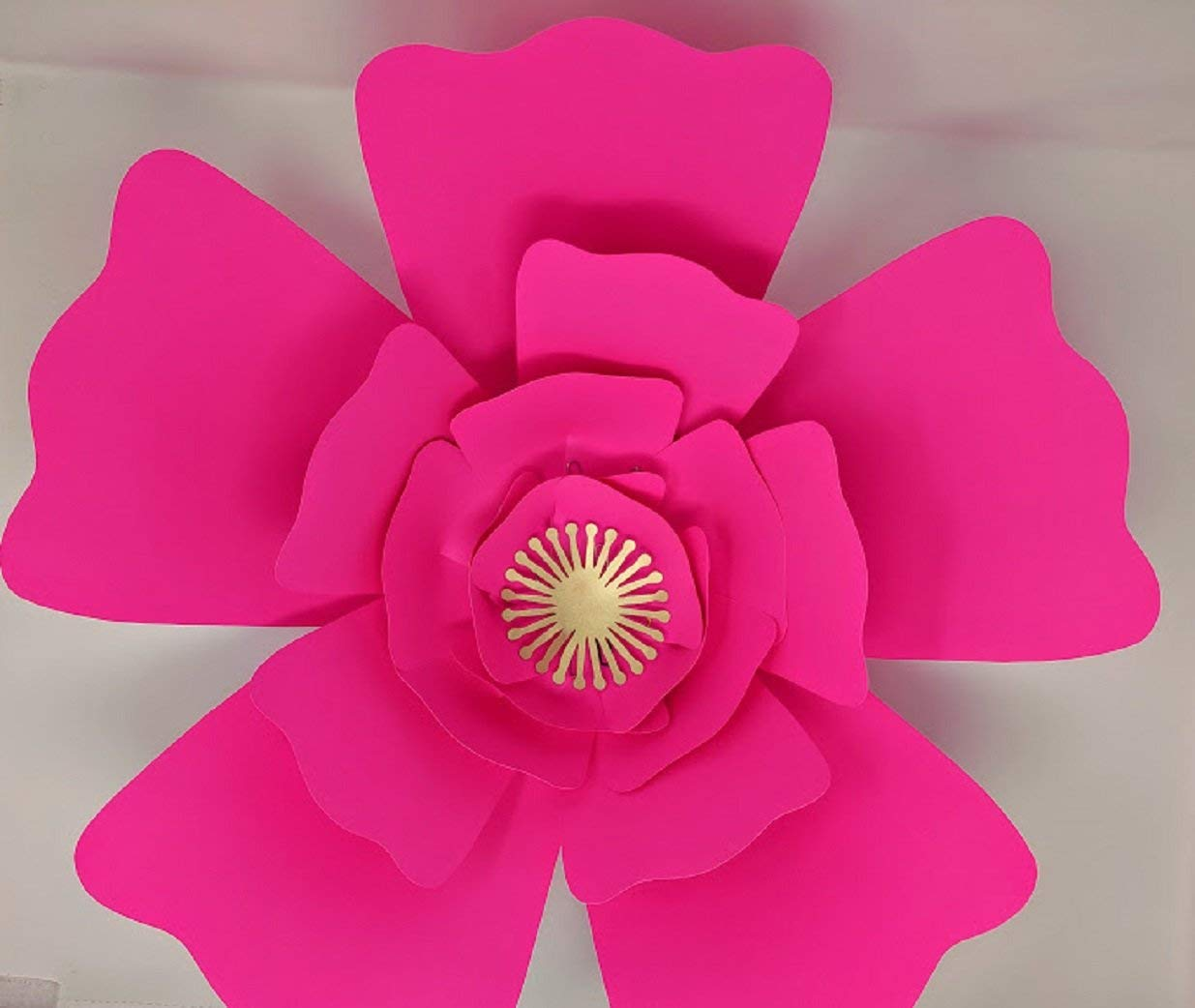 Paper Flower Two Wave Petal Rose Template With Instructions In