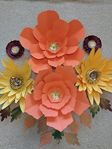 Paper flowers fall backdrops includes 6 paper flowers 10 paper paper flowers mightylinksfo