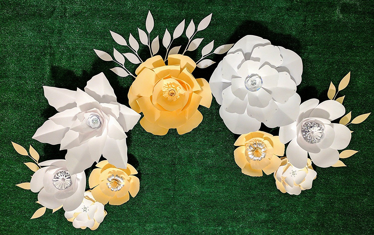 Paper Flowers For Backdrops Includes 9 Paper Flowers And 12 Paper