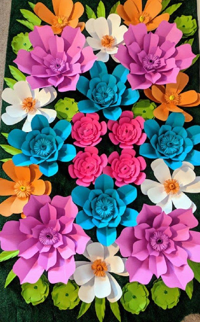 Wall paper tropical fiesta theme flowers for backdrops includes 28 wall paper tropical fiesta theme flowers mightylinksfo