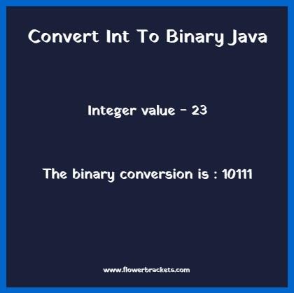 java program to convert integer value into binary