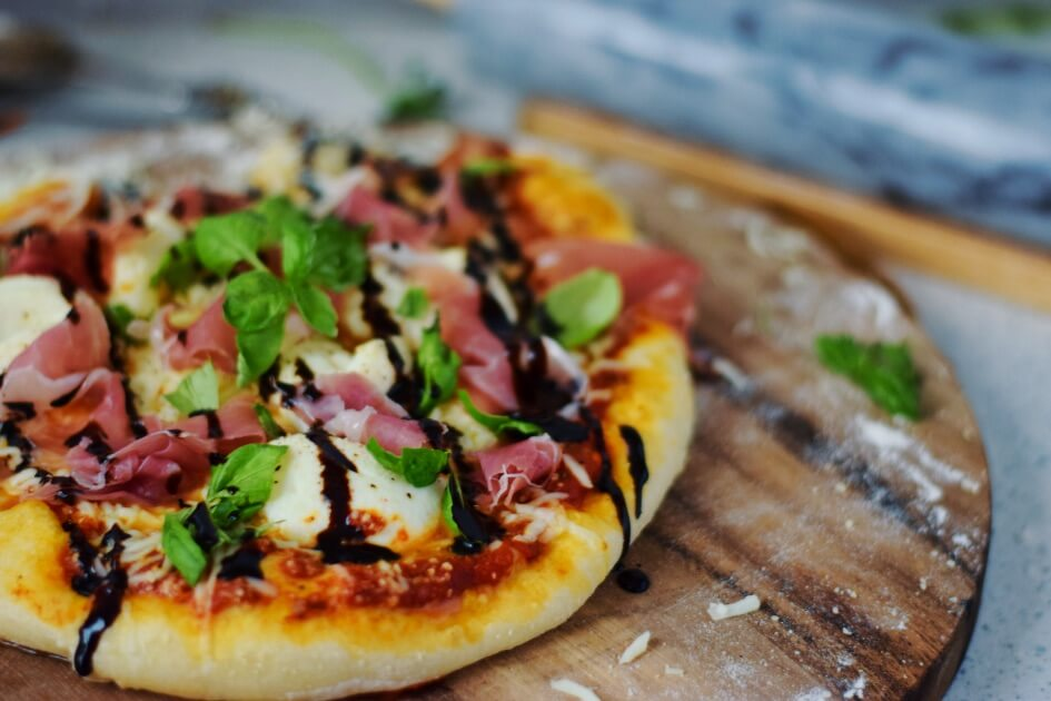 Tasty lunch pizza