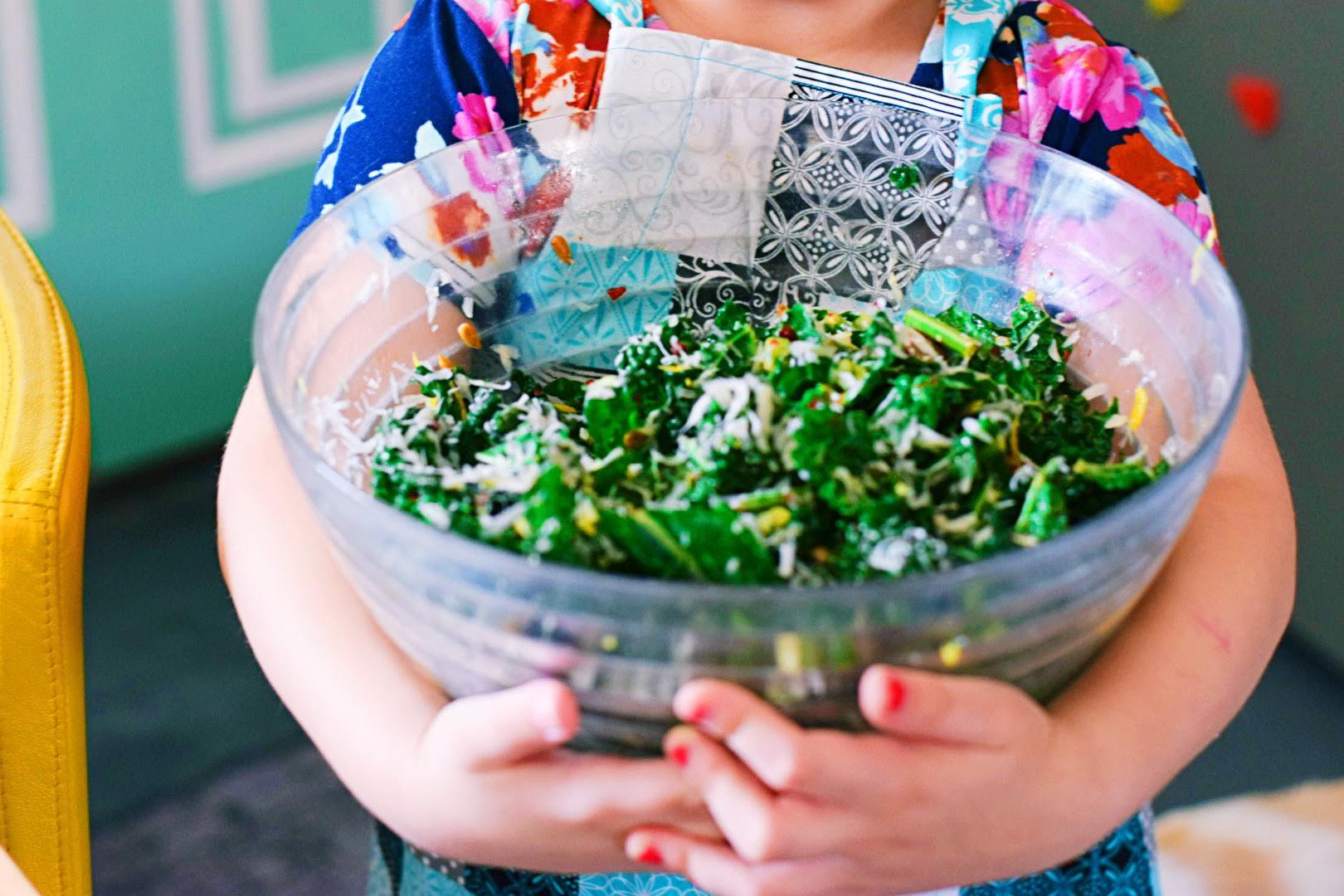 Arcadia inspired Tuscan kale salad