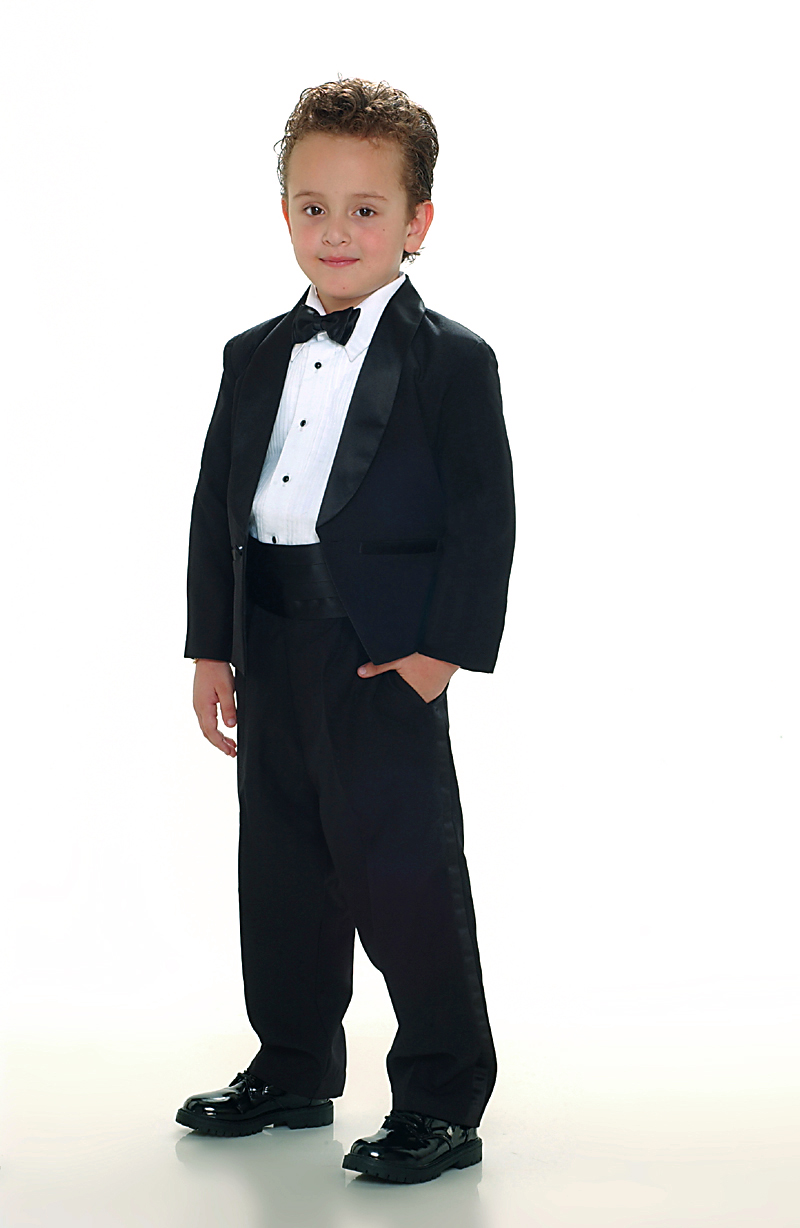 TT_4002B  Boys Suit Style Tuxedo BLACK COLOR  Boys First