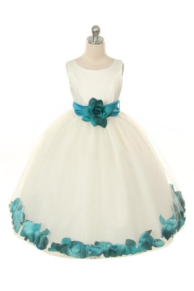 MB_152IVTL  Flower Girl Dress Style 152Choice of White