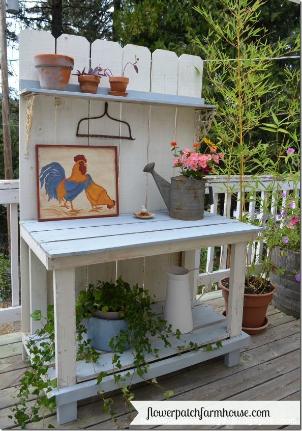 Potting Bench from Fence boards