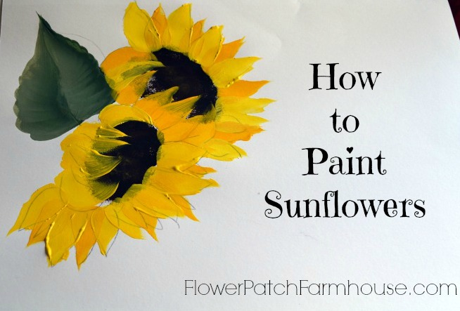 How to Paint Sunflowers