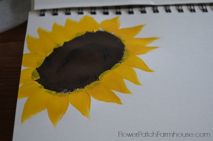 fast and easy stroke sunflowers