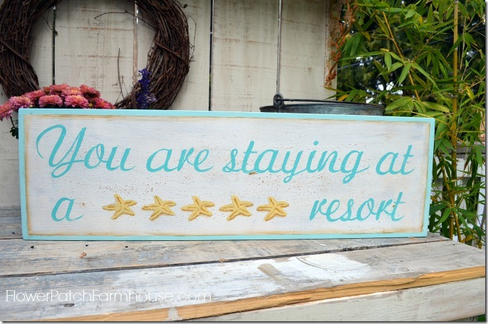 starfish resort sign