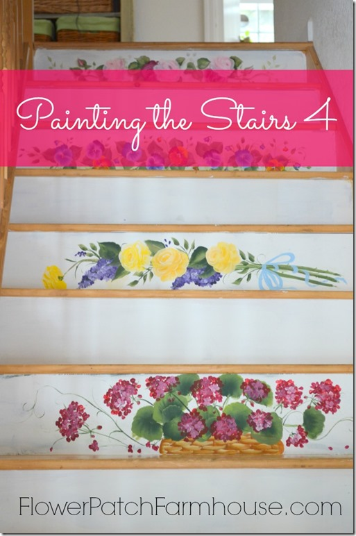 Paint your stairs with Flowers, FlowerPatchFarmhouse.com