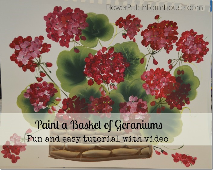 geranium basket painting banner