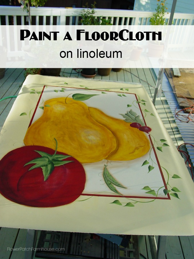 Tuscan Floorcloth painted on linoleum