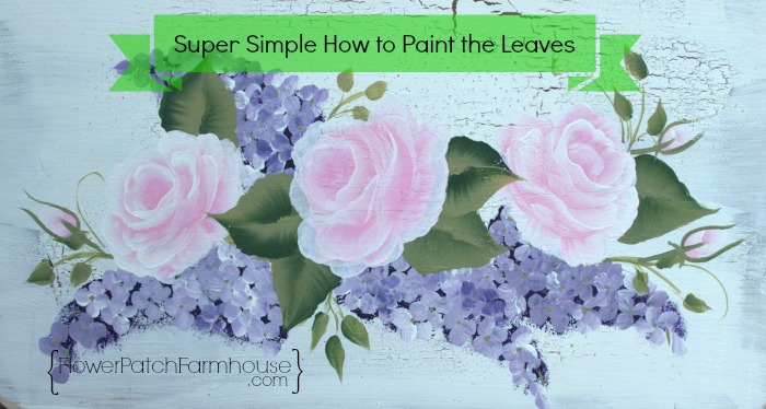 how to paint the leaves