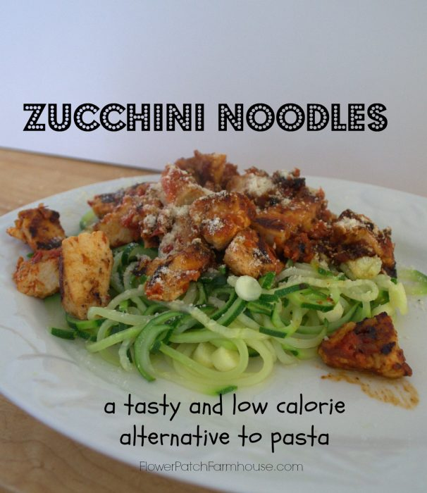 Veggie Noodles, a low calorie and tasty alternative to pasta