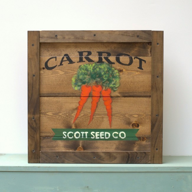 Learn to Paint a Carrot, FlowerPatchFarmhouse.com
