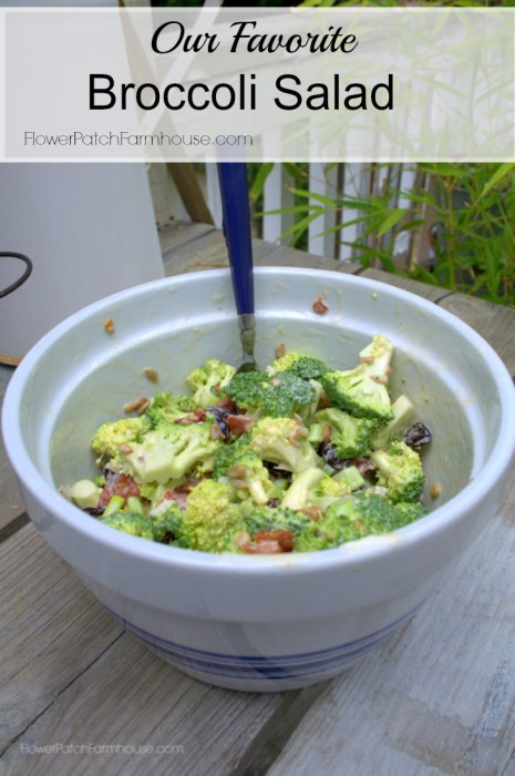 Our Favorite Broccoli Salad, FlowerPatchFarmhouse.com