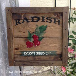 Paint Vintage Crate Signs