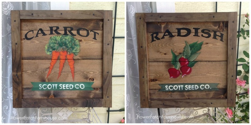 Vintage Crate Seed Packet Signs FlowerPatchFarmhouse.com