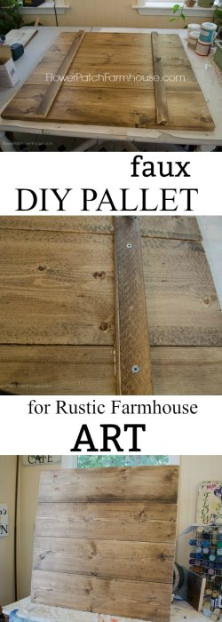 Attach Boards together for Rustic art, Faux pallet for Farmhouse decor