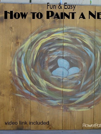 DIY How to Paint a Bird's Nest on Wood