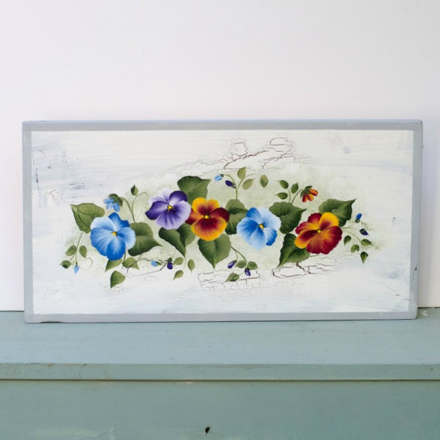 Learn How to Paint a Pansy, FlowerPatchFarmhouse.com