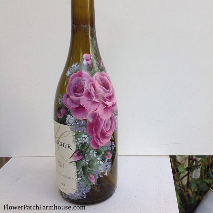 roses wine bottle