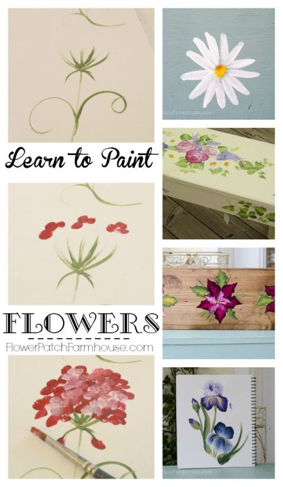 Learn how to paint flowers flower patch farmhouse for Learn to paint online