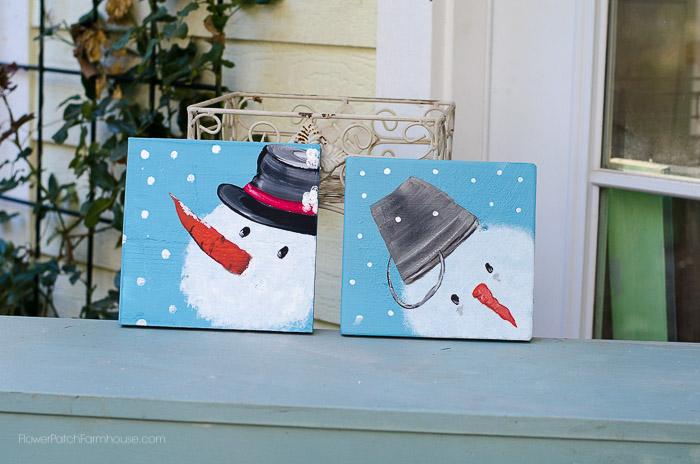 Wintery snowmen, FlowerPatchFarmhouse.com
