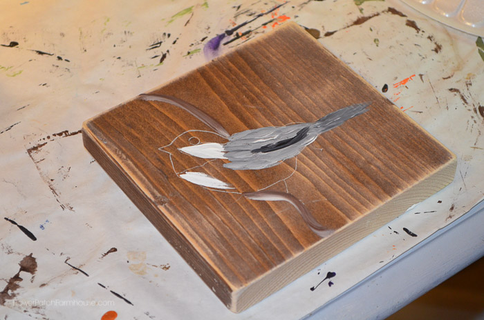 How to Paint a Chickadee, FlowerPatchFarmhouse.com