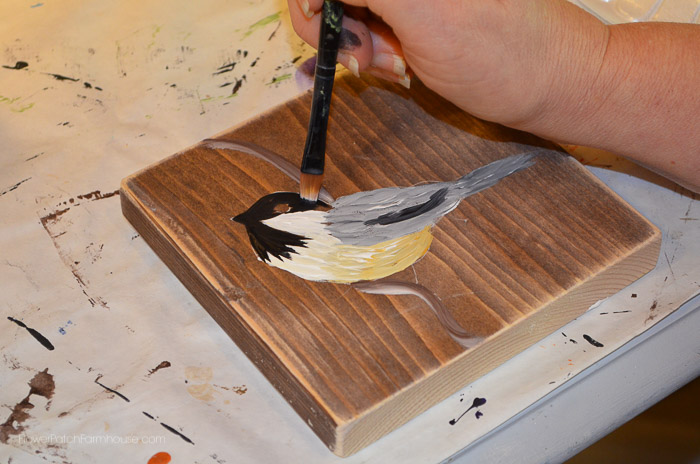 Learn to Paint a Chickadee, FlowerPatchFarmhouse.com