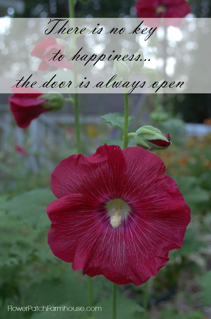 There is no key to happiness Inspirational quote, FlowerPatchFarmhouse.com