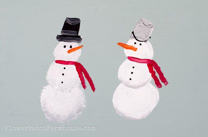 Learn How To Paint A Snowman FlowerPatchFarmhouse