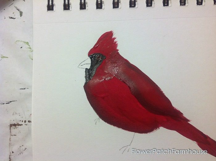 Cardinal painting tutorial, FlowerPatchFarmhouse.com (13 of 15)