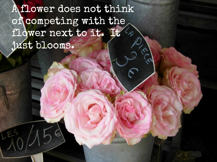 A flower does not compete inspriation, FlowerPatchFarmhouse.com