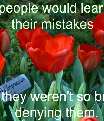 More people would learn from their mistakes Inspirational quote, FlowerPatchFarmhouse.com
