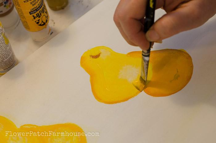 Learn how to Paint a Pear, FlowerPatchFarmhouse.com