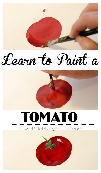 Learn How to Paint a Tomato @ FlowerPatchFarmhouse.com