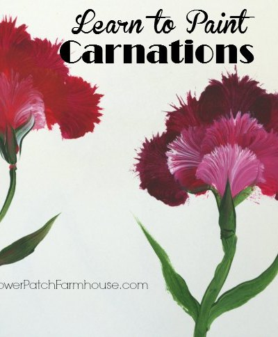 Learn how to paint carnations, a fun and easy method that turns out fabulous! FlowerPatchFarmhouse.com