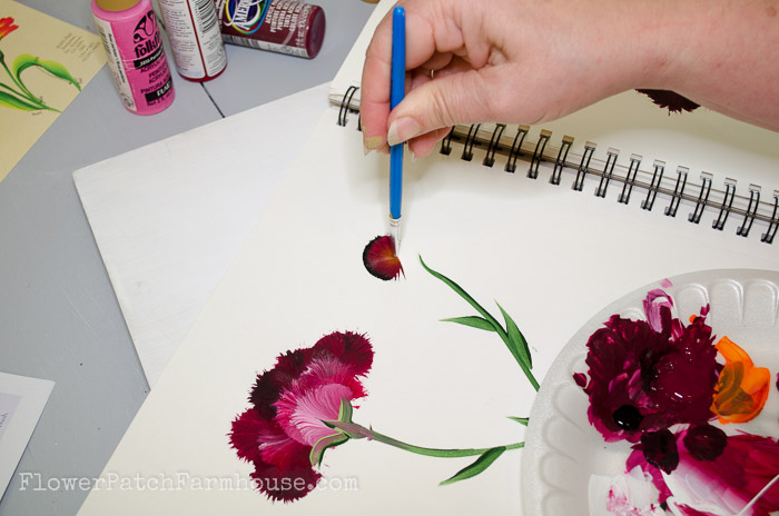 How to Paint a Carnation, FlowerPatchFarmhouse.com (2 of 30)