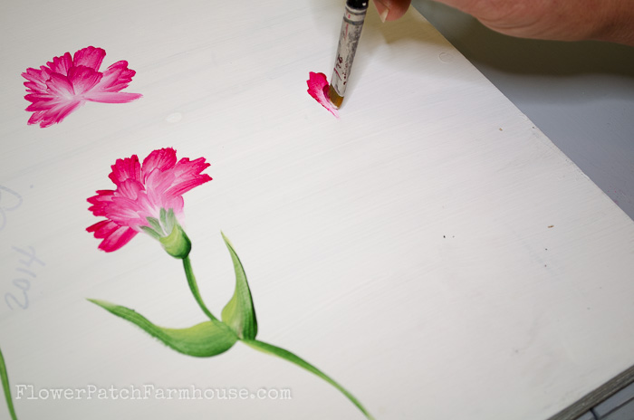 How to Paint a Carnation, FlowerPatchFarmhouse.com (20 of 30)
